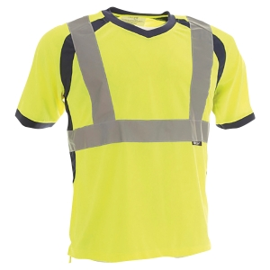 TEE SHIRT HAUTE VISIBILITE TO4 JAUNE FLUO TAILLE XL