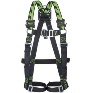 Harnais Miller H-Design Duraflex avec 2 boucles manuelles noir/vert taille M/L