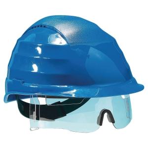 Casque Rockman Vision avec lunette et crémaillère bleu