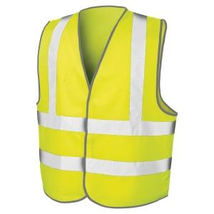 Gilet haute visibilité Result Motorway avec 2 bandes jaune fluo taille L/XL