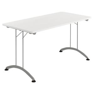 Table pliante Buronomic - 70 x 140 cm - blanche