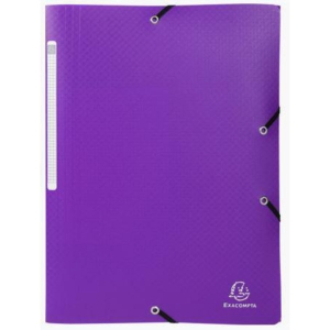 Chemise 3 rabats Exacompta - polypropylène - violette