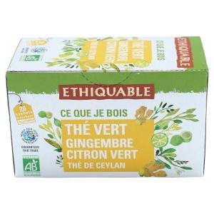 Thé vert gingembre citron vert équitable & bio