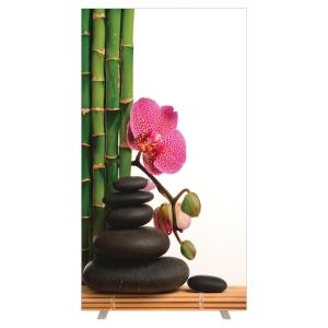 Cloison de bureau EasyScreen by PAPERFLOW - Largeur 94 cm - motif fleur