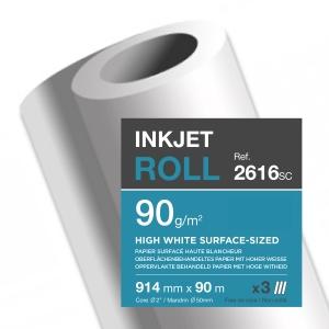 Papier surfacé Clairefontaine - 90 g - rouleau 914 mm x 90 m - lot de 3