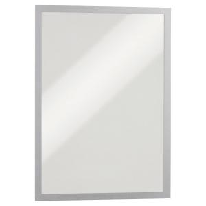 Cadre d affichage Durable Duraframe - A3 - magnétique - argenté - paquet de 5