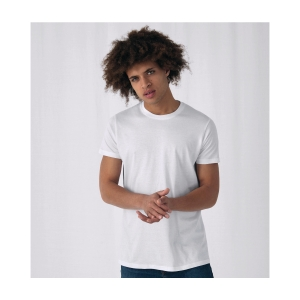 TEE-SHIRT B&C 150 A COL ROND BLANC TAILLE L