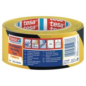 TESAFLEX PVC MARQUAGE AU SOL PERMANENT NOIR/JAUN