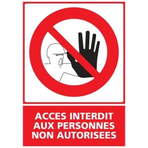 Panneau accès interdit PVC  150 x 210 mm