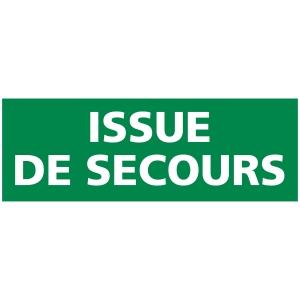 INDICATEUR D ISSUE DE SECOURS ADHÉSIF 210 X 75 MM