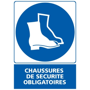 INDICATEUR DE CHAUSSURES DE SECURITE OBLIGATOIRES ADHESIF 150X210MM
