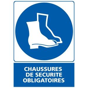 Panneau chaussures de sécurité obligatoires en PVC 150 x 210 mm