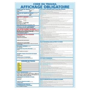 PANNEAU AFFICHAGE OBLIGATOIRE ADHESIF A3