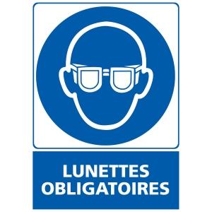Panneau lunettes obligatoires en adhésif 150 x 210 mm