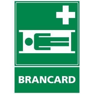 Panneau autocollant - Brancard - A3