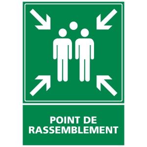 INDICATEUR DE POINT DE RASSEMBLEMENT ADHÉSIF 150X210MM