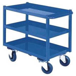 Desserte d atelier mobile Provost - 3 niveaux - bleue