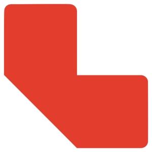 Sachet de 10 symboles de marquage au sol adhésif  L  rouge