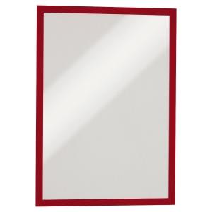 Cadre d affichage Durable Duraframe - A3 - magnétique - rouge - paquet de 5