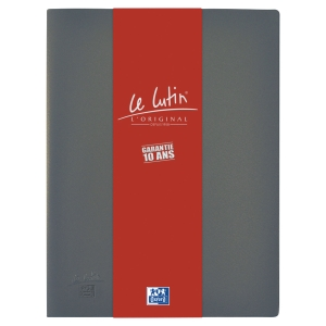 Protège-documents Elba Le Lutin - PVC opaque - 30 pochettes - grise