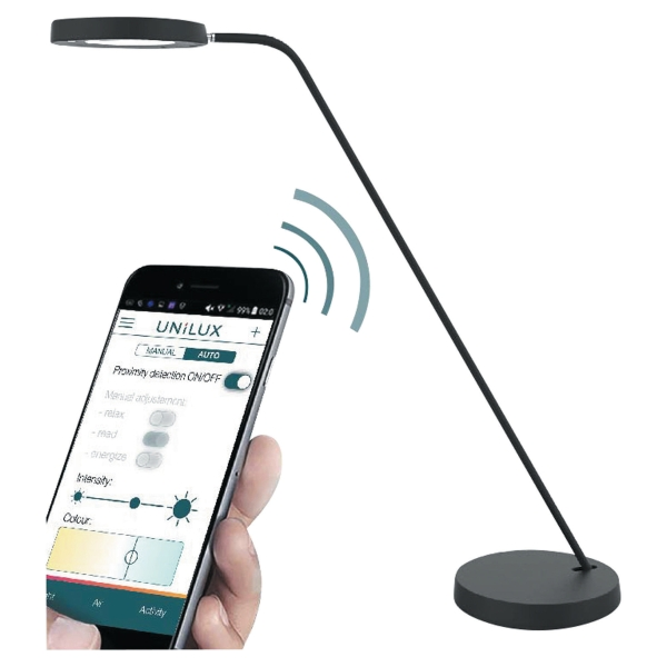 Lampe Unilux Connectee I Light Led Noire