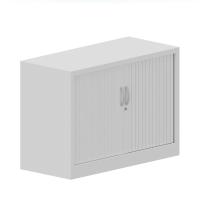 Armario metálico de persiana con 4 estantes 710X1000X450cm blanco/blanco