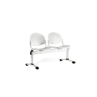 Bancada metálica sin brazos LYRECO 2 asientos color  gris Dim:1230x820x600 mm