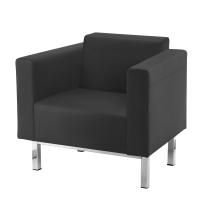 Sillon sala de espera LYRECO Serie 8000 1 asiento negro Dim: 860x840x680 mm