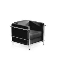 Sillon sala de espera LYRECO Serie 5000 1 asiento negro Dim: 715x750x700 mm