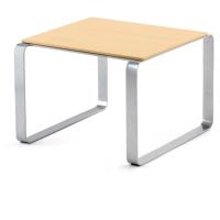 Mesa de sala de espera LYRECO de madera Dim: 600x600x430 mm