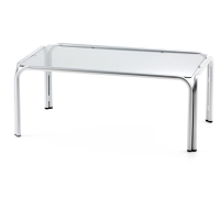 Mesa de sala de espera LYRECO de cristal Dim: 1150x650x400 mm