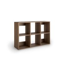 Librería Lyreco 6 casillas con medidas 86x40x128 nogal