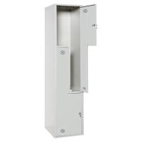 Taquilla montada LYRECO 2 compartimentos en L Dim: 800x1800x500 mm