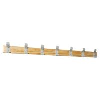 Perchero de pared LYRECO 7 perchas Dim: 1500x135x60 mm