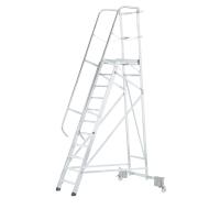 Escalera profesional ZARGES con plataforma grande y 9 peldaños