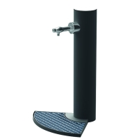 Fuente vendôme cilindrica de ø200×1000 mm. con grifo cromado, 555x731x1004mm