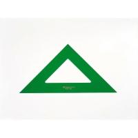 Escuadra de PVC verde de 45º FABER CASTELL