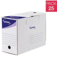 Pack 25cajas archivo definitivo  formato A4  LYRECO Dimensiones: 250x330x144mm