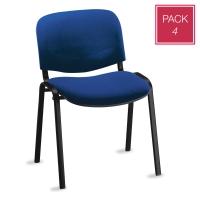 Pack de 4 sillas de conferencias sin brazos PROSEDIA Visit V404 color azul
