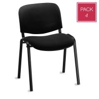 Pack de 4 sillas de conferencias sin brazos PROSEDIA Visit V404 color negro