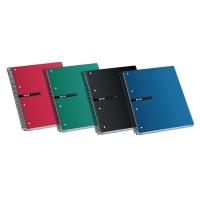 Cuaderno ENRI 160 hojas A4 microperforado cuadriculado 4 taladros color negro