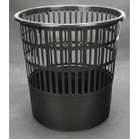 Papelera 16 l rejilla negra Inco  Dimensiones:    320mm alto x 300mm diámetro