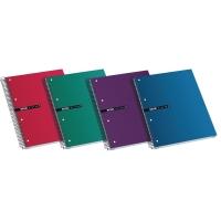Cuaderno Status 160 hojas A4+ microperforado cuadriculado. Colores surtidos