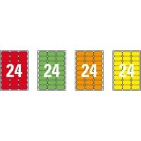 Caja de 480 etiquetas impresión láser APLI 02871 naranja fluorescente