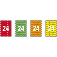 Caja de 480 etiquetas impresión láser APLI 02873 verde fluorescente