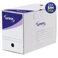 Pack 20 cajas archivo definitivo  formato A4  LYRECO Dimensiones: 250x330x200mm