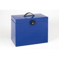 Cajetín c/5 carpetas colgantes poliestireno A4  ESSELTE Home Box  Color azul