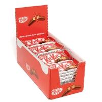 Caja de 36 barquillos de galleta y chocolate con leche NESTLE KITKAT de 45g