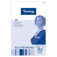 Block de 25 hojas papel liso para pizarra LYRECO