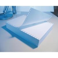Caja 1500 hojas papel listado 2 hojas 56/57g/m2 blanco. 240x280mm